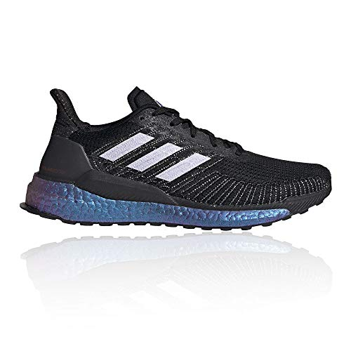 adidas Solar Boost 19 Scarpa da Corsa Running Jogging su Strada o Sterrato Leggero con Appoggio Neutro per Donna Nero Viola 42 2/3 EU