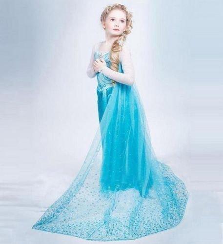 Disfraz de Elsa de Frozen, talla M, para niñas de 4-5 años, de los ...