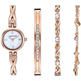 Anne Klein Women's Swarovski Crystal Accented Watch and Bracelet Set, AK/3586