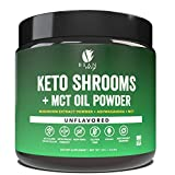 Bean Envy Keto Shrooms – Mushroom Extract Root Powder + MCT Oil Powder + Ashwagandha – Perfect for Keto, Immunity Boost, Weight Loss and Stress Management – Unflavored