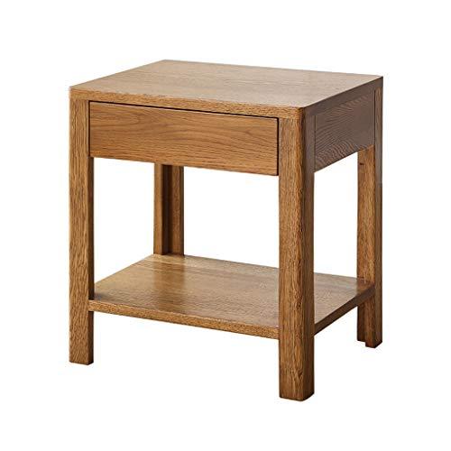 HXGL-Nachttisch Nachttisch Einzelschubladenschrank Beistelltisch Couchtisch Lagerschrank Eiche Seitenschrank Nussbaum Farbe Massivholzmöbel Schlafzimmer (Size : L45*W35*H50cm)