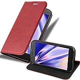 Cadorabo Coque pour Motorola Moto G4 / G4 Plus en Rouge DE Pomme - Housse Protection avec Fermoire...