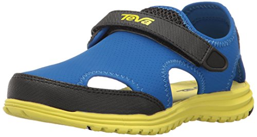 Product Image of the Teva Tidepool CT Water Sandal (Toddler/Little Kid), Navy/Yellow, 5 M US Toddler