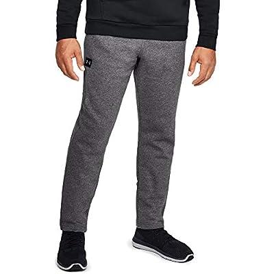 Under Armour Men's Rival Fleece Pants , Charcoal Light Heath (020)/Black , Large