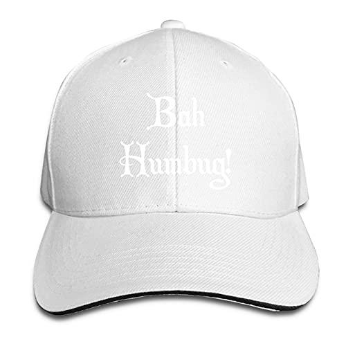 QiangQ Bah Humbug - Gorra ajustable para hombre y mujer, color blanco