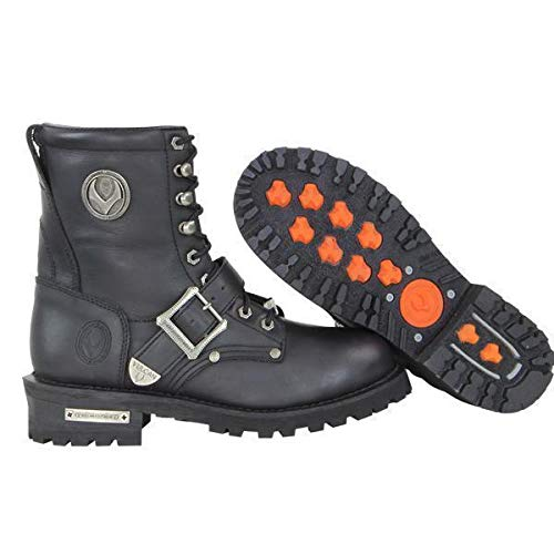 Vulcan V-117 Men's 'Rage' Motorcycle Leather Boots - 10