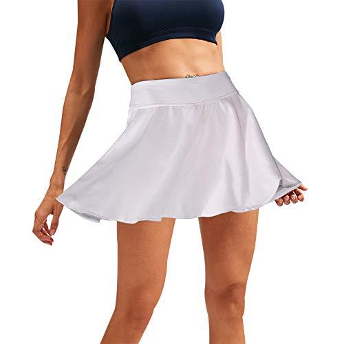 wenyujh Sport Rock Damen Tennisrock Golfrock Yoga Skort mit Innenhose Taschen Athletic Minirock Hosenrock Sportrock für Frauen Mädchen Golf Tennis Laufen