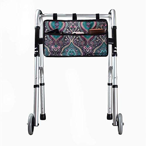 Bolsa lateral para silla de ruedas, bolsa de almacenamiento, bolsa universal portátil impermeable para silla de ruedas, accesorios para silla de ruedas, adecuado para andador, andador, scooter.