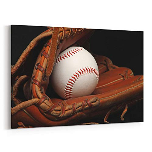 Scott397House Canvas Wall Art Prints Baseball Baseball Decor Ready to Hang Printing Gift for Home 16x20