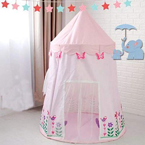 Barm Foldable durable children's play house,Kids tent game house indoor princess baby mongolia castle toy house children's tent decoration-B