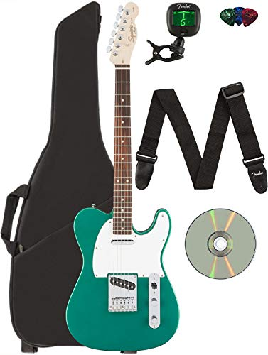 Fender Squier Affinity Telecaster - Race Green Bundle with Gig Bag, Tuner,...