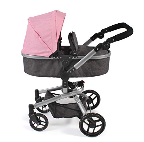 Bayer Chic 2000 593 86 Kombi-Puppenwagen Yolo, Melange rosa