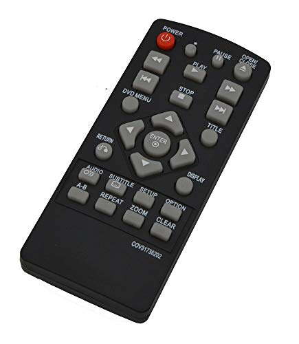 COV31736202 Replacement Remote Control Fit for LG DVD Player DP132 DP132NU Without Battery