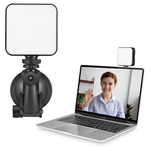 Queta RGB Luz de Video LED en la Cámara con 3 Zapatas Frías, luz de Video LED Mini Recargable Mejorada de 2000 mAh, Lámpara de Fotografía Profesional CRI95+ Regulable 9000K para Grabación de Vlogs
