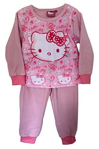 Hello Kitty Conjunto de Camisa de Pijama, Ropa de Dormir de Pijama con puños de Lana de Manga...