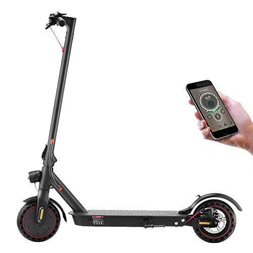 WIKEE iScooter S1 Scooter Eléctrico Adulto Niño Velocidad 18.6mph Kilometraje 25km Impermeable IP54 8.5' Neumático a prueba de pinchazos con APP