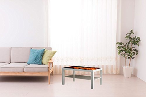 Mesa IKEA Lack Personalizada Fuego Vinilo Auto Adhesivo | Medidas 1,18 m...