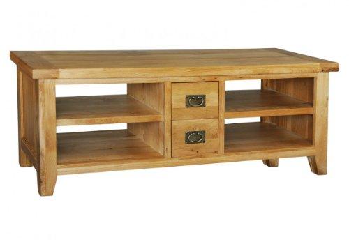 Oak Furniture House Opus Breitbild-TV Unterschrank TV DVD Einheit groß Eiche massiv Möbel