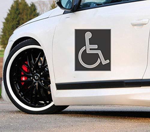 Auto Aufkleber 25 cm Rollstuhl Internationales Symbol Auto Styling Dekoration Auto Aufkleber für Laptop Fenster Aufkleber