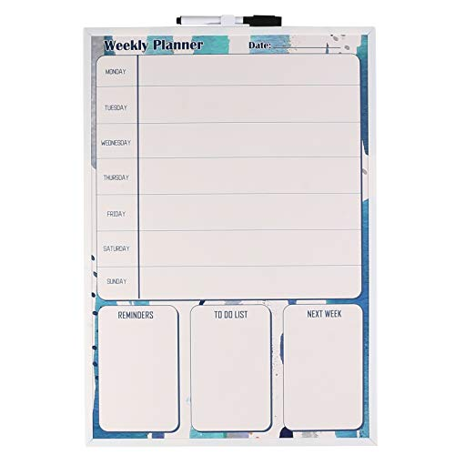 Eagle Magnetic Dry Erase Board, White Board, Weekly Planner,12-1/2 X 18 Inches, with 1 Marker and 2 Magnetics