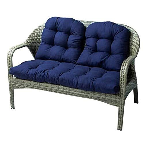 YLLQXI 3PCS Garden Bench Pad Chair Cushions, Comfortable Garden Recliner Cushions, Cotton Garden Bench Seat, Cushions Garden Patio Cushion, for Garden Patio Bench or Swing