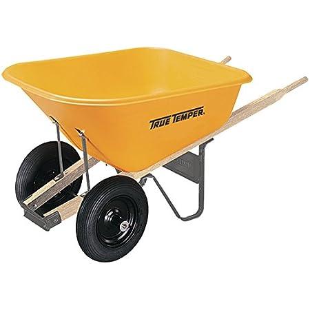 True Temper RP810 Dual Wheel Poly Wheelbarrow, 8 Cubic Foot