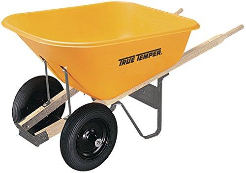 True Temper RP810 Dual Wheel Poly Wheelbarrow