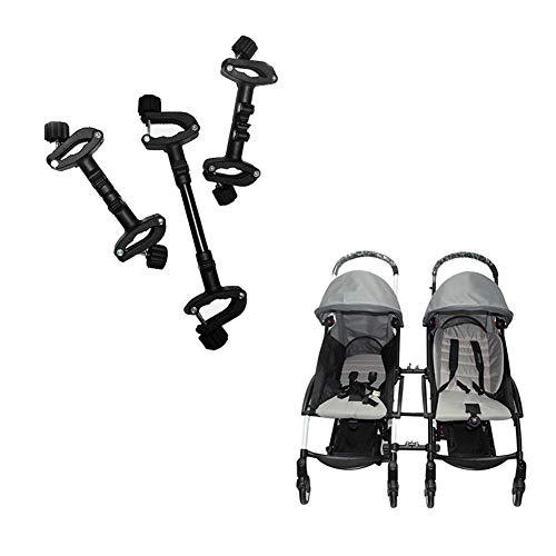 Sanmubo Kinderwagen-Anschlüsse für Zwillinge Verstellbare einfache Installation Kinderwagen-Anschluss Verwandelt Zwei einzelne Kinderwagen in einen doppelten Kinderwagen