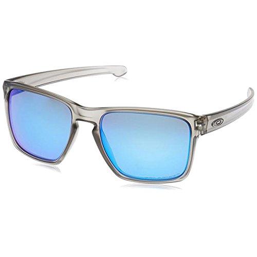 Oakley Men's OO9341 Sliver XL Rectangular Sunglasses, Matte Grey Ink/Sapphire Iridium Polarized, 57 mm