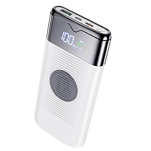 ZHENYANG Banco de energía Cargador Portable INALÁMBRICO 10000MAH CARGER Power Banco DE Potencia Carga RÁPIDA USB PowerBank Batería Externa para iPhone Xiaomi (Color : White)