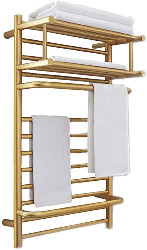 Toallero Eléctrico Bajo Consumo Calentadores de toallas para baño, bastidor eléctrico de toallas eléctricas montadas en la pared, 304 Barras de toalla de toalla de toalla de acero inoxidable 304 Barra
