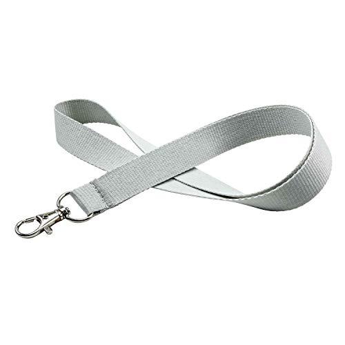 linie zwo®, Pack de 10 cordones para llaves 20 mm, gancho easy going, Gris