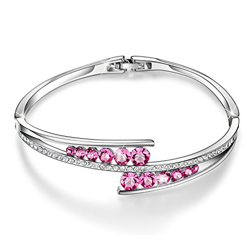 Love Encounter Swarovski Crystals Bangle Bracelet