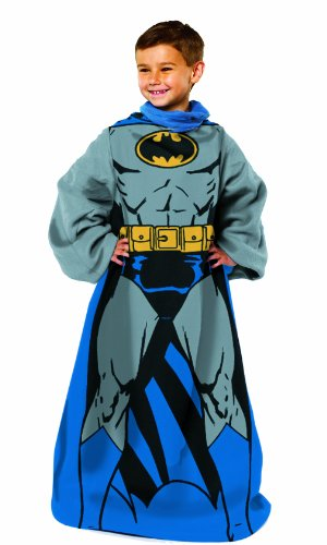 DC Comics, Batman Youth Comfy Throw Blanket with Sleeves, 48' x 48', Multi Color