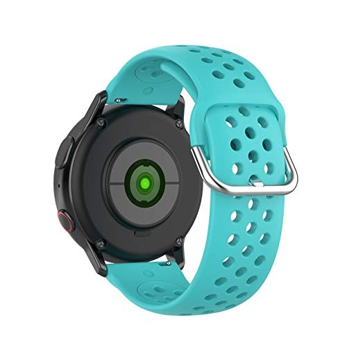 ZXF Silicone Watch strap 18mm 20mm 22mm Silicone Watchband 42mm 46mm Strap Band Bracelet (Band Color : Water duck, Band Width : 22mm)