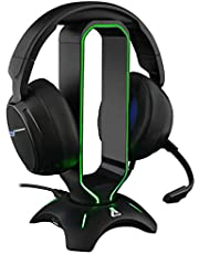 The G-LAB K-Stand RADON Gaming-Headsetstandaard - RGB-Achtergrondverlichting, USB HUB 2 x 2.0, Antislipbasis - Universele Standaard voor PC PS4 Xbox One Nintendo Switch-Gaming Headset (Zwart)