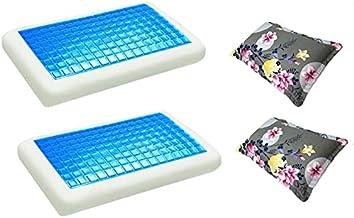 موون مخدة جل الطبية الباردة قطعتين مقاس 70x40 سم مع غطاء وسادة فارغ مقاس 75x50 سم، قطعتين ، KPCM-004