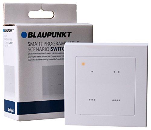Blaupunkt Smart Home Szenario-Schalter SSW-S1 I Zubehör für die Q-Serie von Blaupunkt I Schaltung von Szenarien per Tastendruck I Hausautomation I Smart Home Schalter I 1 Stück I Weiß