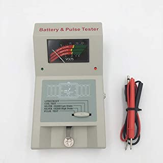 Battery Tester Quartz Watch Analyzer Button Cell Coil Tester for 1.5V 3V and Watch Batteries