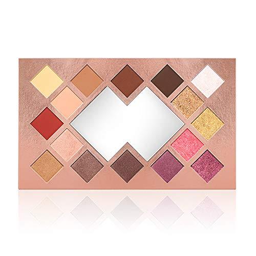 Beito 1pc Matte et Shimmer yeux Kit de maquillage Pro Sunset Palette de fard à paupières 16 couleurs très pigmentée yeux poudre maquillage long lasting fard à paupières