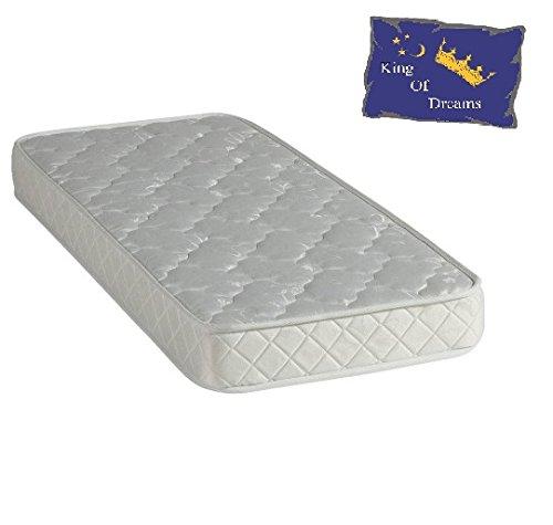 Nuits D'or Baby Dream 60x120 Matelas Mousse Poli Lattex - Tissu 70% Coton - Hauteur 15 Cm - Anti-acariens Antibactériens Hypoallergénique (60_x_120_cm)
