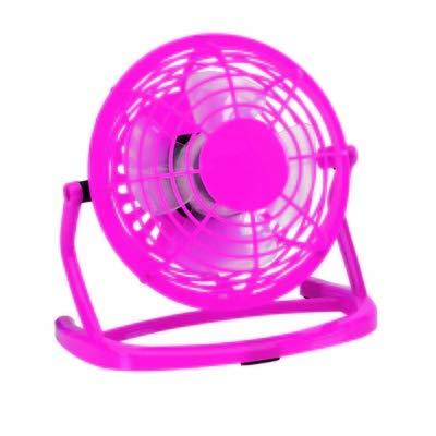 Ventilador de escritorio 14 cm – Mini ventilador USB – Silencioso (rosa)