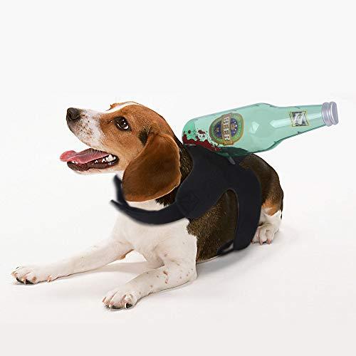 Ochenta disfraces de Halloween para perros, disfraces de Halloween para mascotas, espalda de pecho de mascotas, disfraces divertidos, disfraz de perro, botella de vino para perro de(tamaño S 46 g)