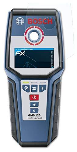 atFolix Schutzfolie kompatibel mit Bosch GMS 120 Folie, ultraklare FX Displayschutzfolie (2X)