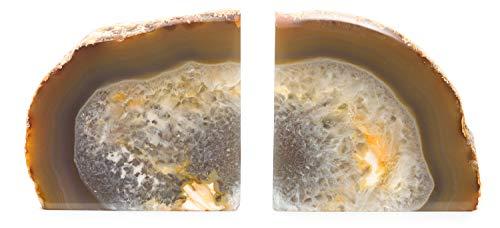DesertUSA Achat Buchstütze plus Bonus Geode Schlüsselanhänger 2 - 3.5 lb natur