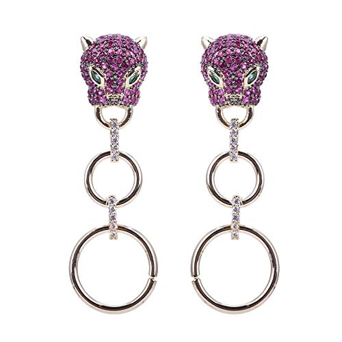 BAJIE Earring Luxury Zirconia Animal Drop Earrings Covered With Cz Stone Luxury Style Fashion Carp Bite Ingot Pendant Long Earrings