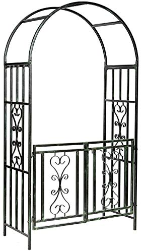 Ruddings Wood Heavy Duty Winchester Garden Arch with Gates