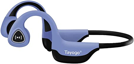 Tayogo Bone Conduction Headphones with Microphone Bluetooth 5.0 Open Ear Wireless..