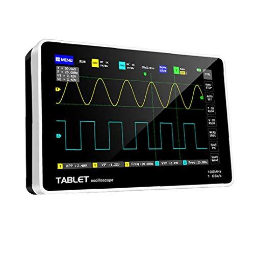 Gracy Osciloscopio Digital 1013D con 2 Canales LCD de Pantalla táctil Negro anfitrión de frecuencia de muestreo de Repuesto para FNIRSI Instrumento de medición electrónica