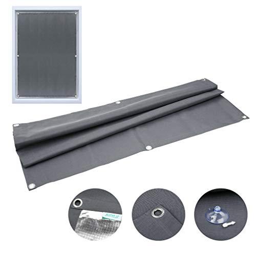 Dachfensterrollo mit Saugnäpfe Verdunkelungsvorhang für Velux 60x115cm Verdunkelungsrollo ohne Bohren tragbare Gardinen Sonnenschutz für Autofenster Dachfenster (grau)